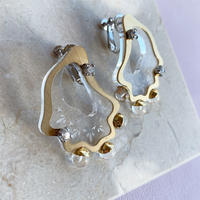acrylic shell pierce/earring (clear)