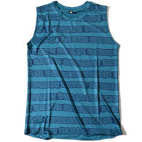 Dissonant Sleeveless T(BlueGreen)