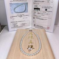 ¥375,000あこや真珠ネックレス 無調色オーロラ天女一級品 K14留め具新品桐箱付き
