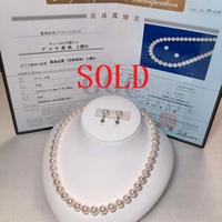 ¥61,750 アコヤ真珠ネックレス8.5-9.0mm 花珠新品ケース付き