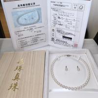 ¥120,000 アコヤ真珠ネックレス 8.0-8.5mm NCオーロラ花珠新品桐箱付き