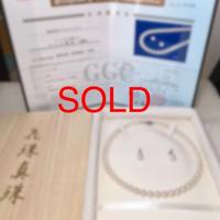 ¥78,400 アコヤ真珠ネックレス8.0-8.5mm花鑑付きk14イヤリング 新品桐箱付き