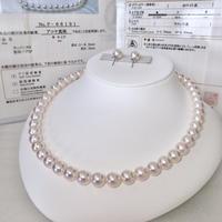 ¥195,000 アコヤ真珠ネックレス8.0-8.5mmオーロラ天女 ペア付き新品ケース付き