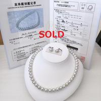 ¥214,000 アコヤ真珠ネックレス8.5-9.0mm真多麻N0.9mm k14WG 新品桐箱付