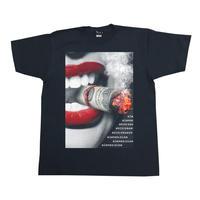 Eleven Nine / Tシャツ/ Lip/smoke/ブラック