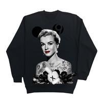 Eleven Nine / トレーナー/ Marilyn Monroe  rose  black /ブラック