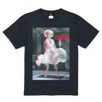 Eleven Nine / Tシャツ/ doll/ マリリンモンロー 3D/ブラック