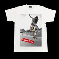 Eleven Nine / Tシャツ/  Box Rogo /Skateboard  / ホワイト