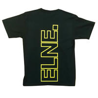 Eleven Nine / Tシャツ/yellow Rogo  outline /ブラック