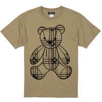 Eleven Nine / Tシャツ/ Teddy bear /Plaid / ベージュ