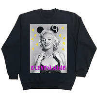Eleven Nine / トレーナー/ Marilyn Monroe 9 /ブラック