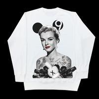Eleven Nine / トレーナー/ Marilyn Monroe  rose  black /ホワイト