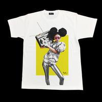 Eleven Nine / Tシャツ/  Afro/glove / ホワイト