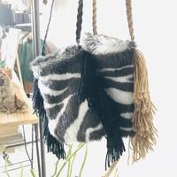 zebra fur pochette