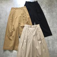 SAMPLE / women's cotton chino  wide pants