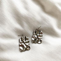 Square plate pierce/earring