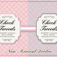 転写紙「Check tweeds Gray」・Check tweeds Pink」2種を各5枚!お得な10枚セット