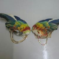 ココノエインコの翼の髪飾り