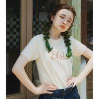 Elsie logo T-shirt IVORY