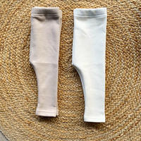 rib leggings  -fleece fabric-