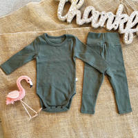 khaki -standard - rompers&leggings set-