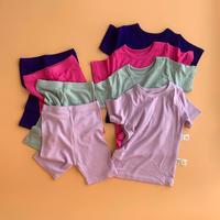 summer silky rib  -kids setup-