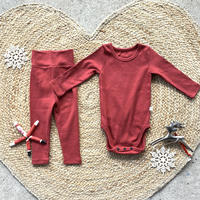 red -standard - rompers&leggings set-