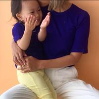 mom half sleeve - summer silky rib -