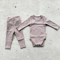 beige -standard - rompers&leggings set-