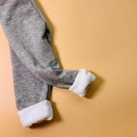 gray fur leggings /select item