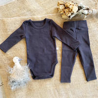 smoky gray -standard - rompers&leggings set-