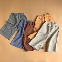 linen cotton kids straight pants