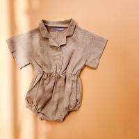 baby linen shirt rompers
