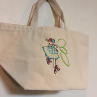 刺繡バレエバッグ001 (小サイズ)