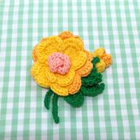 やまぶき色のお花*ブローチ