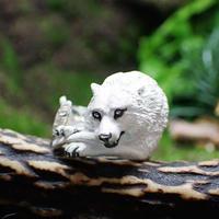 オオカミと肋骨リング(white)
