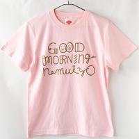 GOOD MORNING nemuiyo Tシャツ / ベビーピンク(GD)