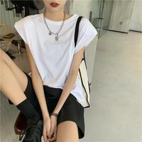【即納あり】【ts005】パワーショルダーTシャツ(3カラー)