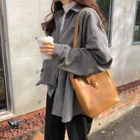 【即納あり】【shi012】シンプルボーイフレンドコーデュロイシャツ(3カラー)