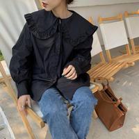 【shi013】フリルセーラーカラーシャツ(2カラー)