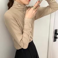 【即納あり】【cs006】タートルネックボトミングシャツ(2カラー)