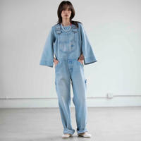 BLUEBIRD BOULEVARD Straight Leg Overall in Light Blue Wash /ブルーバード ブルバード オーバーオールストレート FABOT02D14R