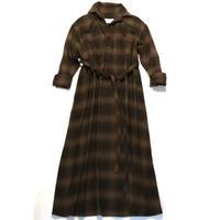 BLUEBIRD BOULEVARD Flannel Shirt Dress /ブルーバード ブルバード チェックネルシャツドレス ( Aライン) CHECK-3