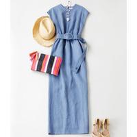 BLUEBIRD BOULEVARD  Linen Canvas Maxi  Dress/ブルーバード ブルバード  リネンキャンバスマキシドレス