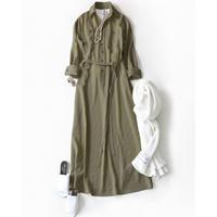 BLUEBIRD BOULEVARD Washed Twill Shirt Dress (Maxi A-Line) /ブルーバード ブルバード ワッシャーツイル シャツドレス