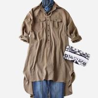 BLUEBIRD BOULEVARD Washed Twill Shirt Dress (Midi) /ブルーバード ブルバード ワッシャーツイル シャツドレス  ミディタケ FADRE03C14R