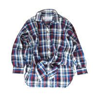 BLUEBIRD BOULEVARD Madras Check Linen  Shirt/ブルーバード ブルバード マドラスチェックオープンカラーシャツ