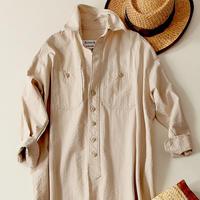 BLUEBIRD BOULEVARD  Seersucker Shirt Dress /ブルーバード ブルバード  シアサッカーシャツドレス