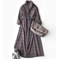 BLUEBIRD BOULEVARD Flannel Shirt Dress /ブルーバード ブルバード チェックネルシャツドレス ( Aライン) CHECK-2