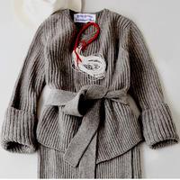 BLUEBIRD BOULEVARD Rib Stitch Knit Cardigan /ブルーバード ブルバード ローゲージ リブニットカーディガン